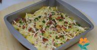 Patatas gratinadas con jamón
