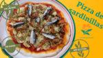 Imagen de la pizza de verduras con sardinillas sin gluten sin huevo y sin lácteos
